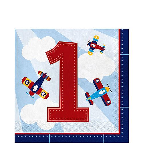 Airplane 1st Birthday Lunch Napkins 16ct Image #1