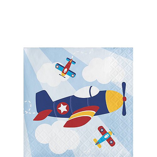 Airplane Beverage Napkins 16ct Image #1