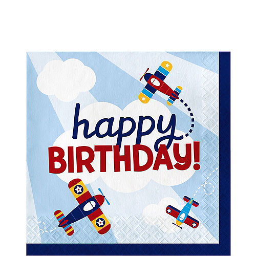 Airplane Birthday Lunch Napkins 16ct Image #1