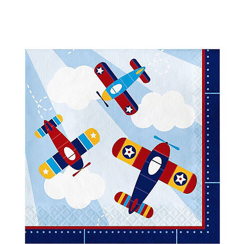 Airplane Lunch Napkins 16ct Image #1