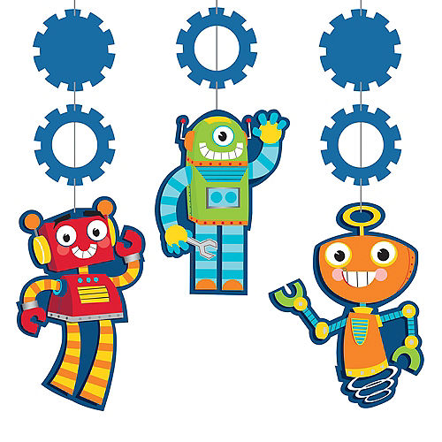 Robot String Decorations 3ct Image #1