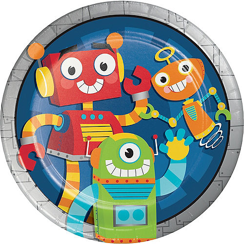 Robot Lunch Plates 8ct Image #1