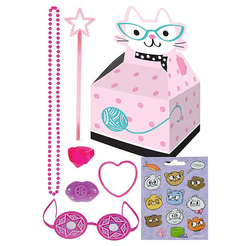 Purrfect Cat Basic Favor Kit for 8 Guests Image #1