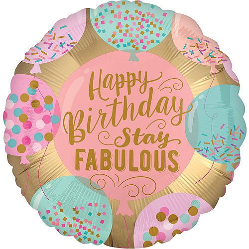 Stay Fabulous Happy Birthday Balloon Image #1