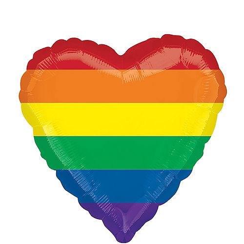 Rainbow Heart Balloon Image #1