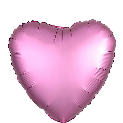 17in Pink Satin Heart Balloon Image #1