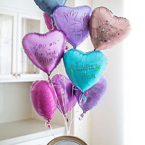 17in Pink Satin Heart Balloon Image #2