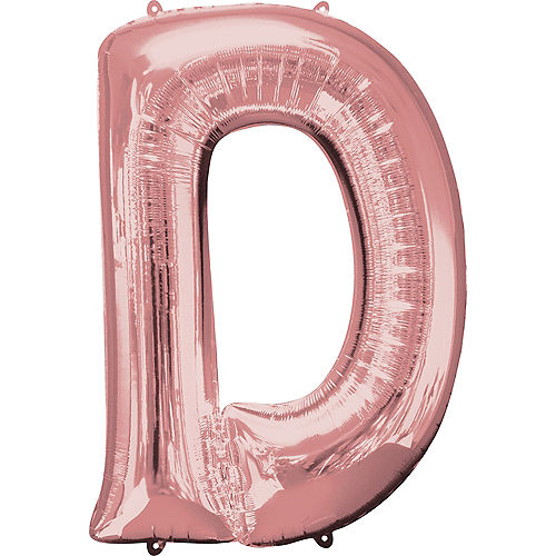34in Rose Gold Letter Balloon (D) Image #1