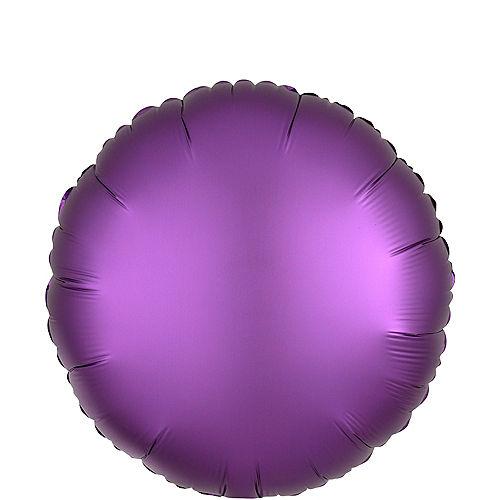 Purple Satin Round Balloon Image #1