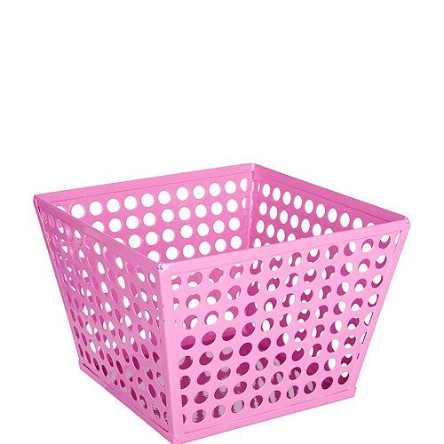 Bright Pink Metal Favor Basket Image #1