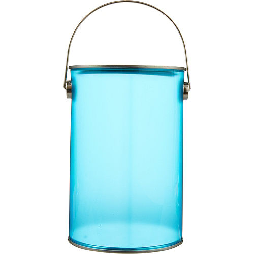 Small Caribbean Blue Plastic Favor Paint Can Image #1