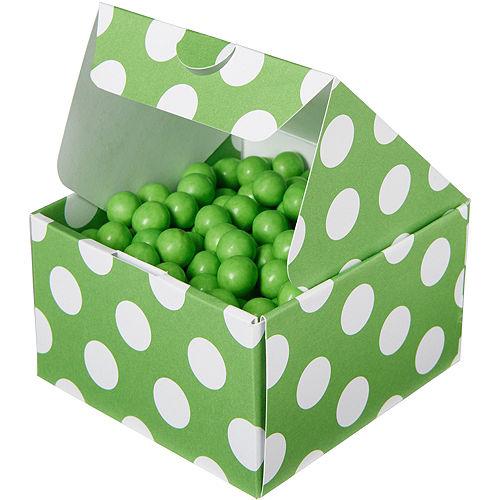 Kiwi Green Polka Dot Treat Boxes 10ct Image #1