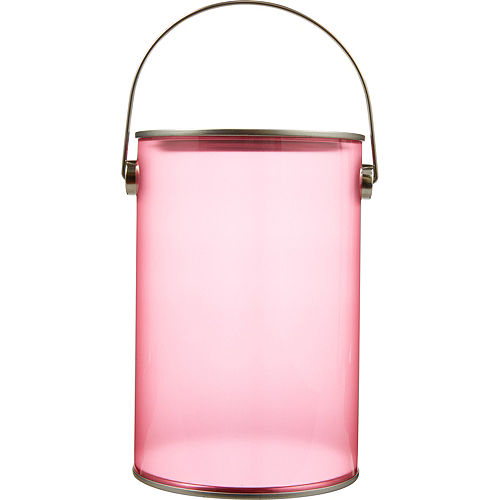 Small Pink Plastic Favor Paint Can Image #1