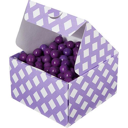 Purple Square Treat Boxes 10ct Image #1