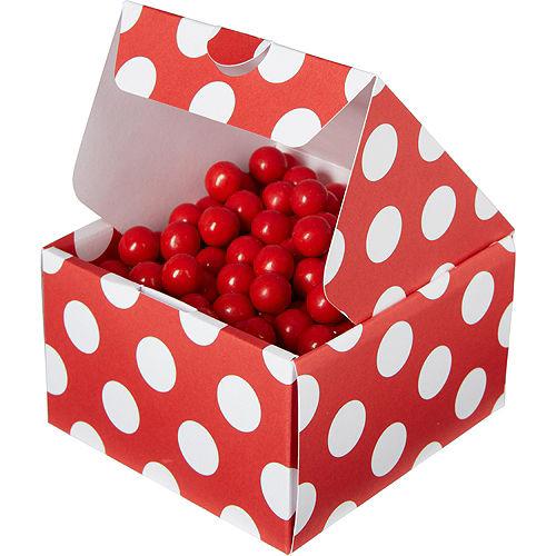 Red Polka Dot Treat Boxes 10ct Image #1