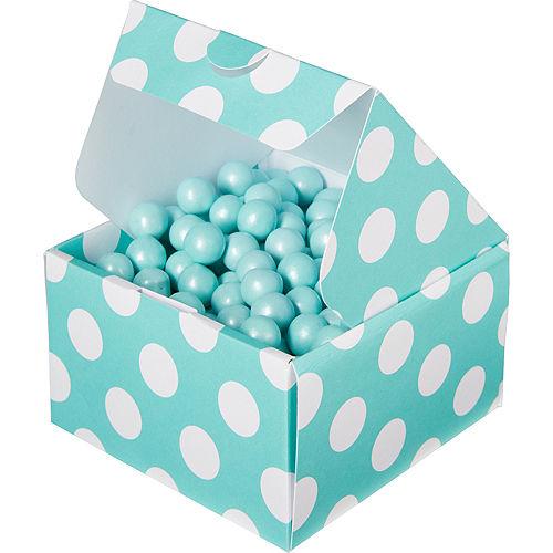 Robin's Egg Blue Polka Dot Treat Boxes 10ct Image #1
