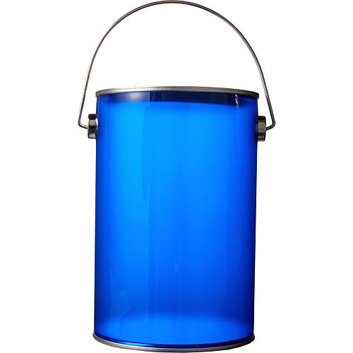 Small Royal Blue Plastic Favor Paint Can Image #1