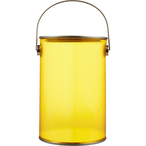 Small Sunshine Yellow Plastic Favor Paint Can Image #1