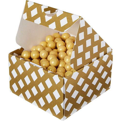 Gold Square Treat Boxes 10ct Image #1