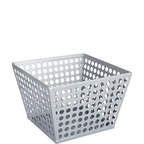 Silver Metal Favor Basket Image #1