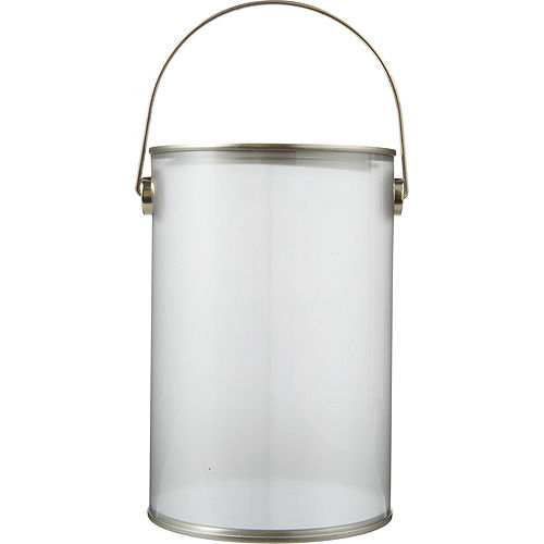 Small Silver Plastic Favor Paint Can Image #1