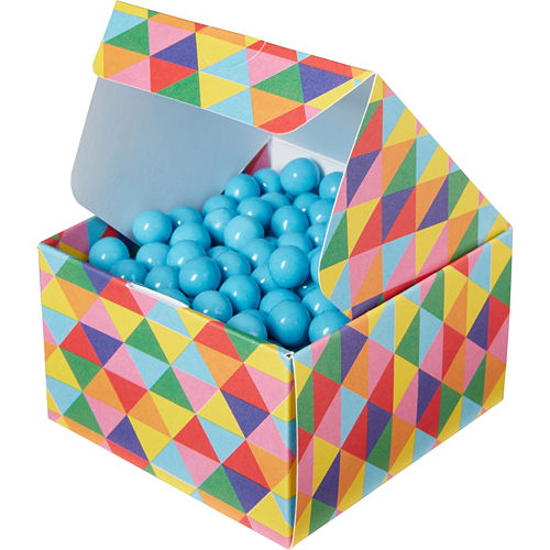 Rainbow Geometric Triangle Treat Boxes 10ct Image #1