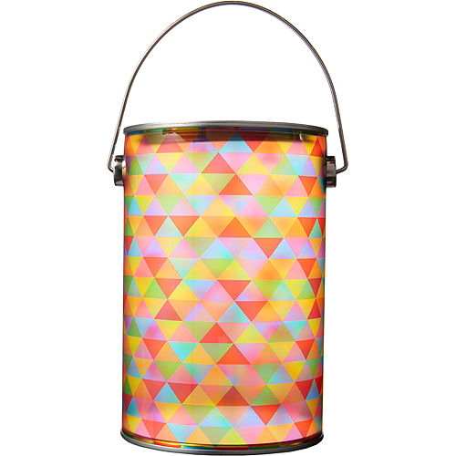 Small Rainbow Geometric Triangle Plastic Favor Paint Can Image #1