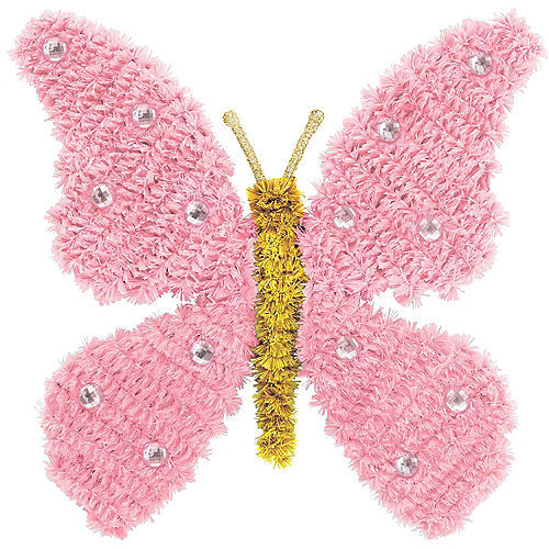 Pink Tinsel Butterfly Sign Image #1
