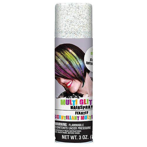 Glitter Rainbow Hair Spray 5ct Image #2