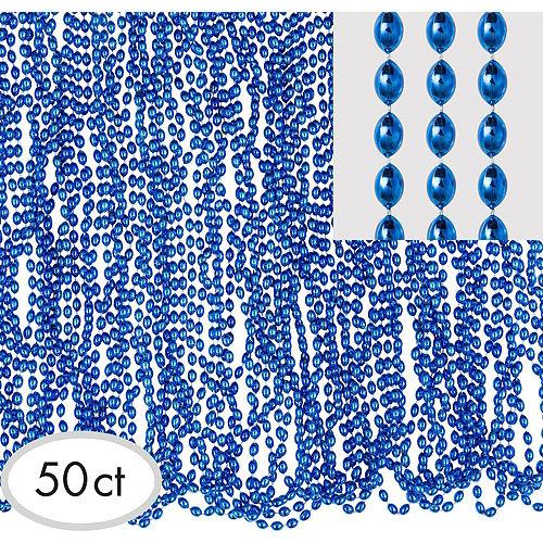 Metallic Blue Bead Necklaces 100ct Image #2