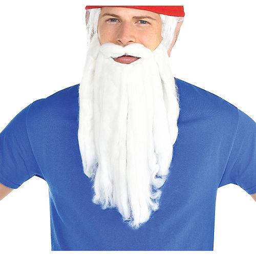 Plush White Beard with Mustache Image #1