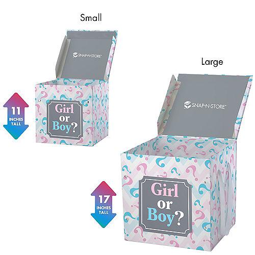 Large Pink & Blue Gender Reveal Box Image #2