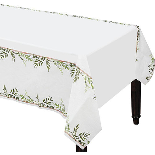Floral Greenery Table Cover Image #1