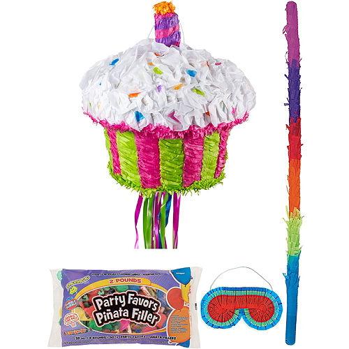 Birthday Cupcake Pinata Kit with Candy & Favors Image #1