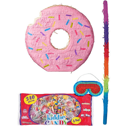 Pink Donut Pinata Kit Image #1