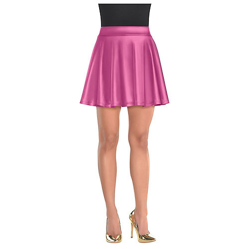 Womens Pink Flare Skirt Image #2