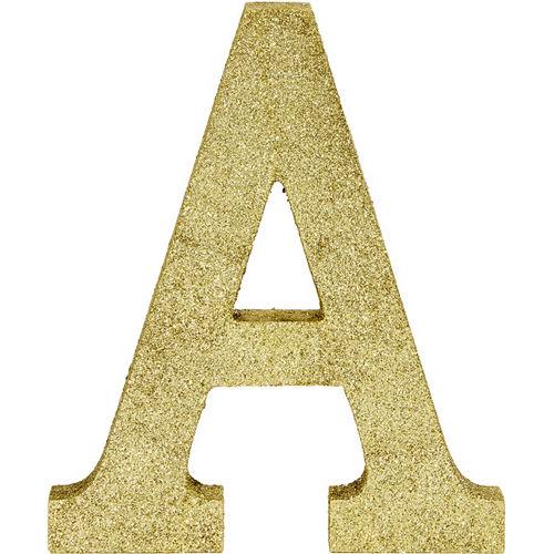 Glitter Gold Letter A Sign Image #1