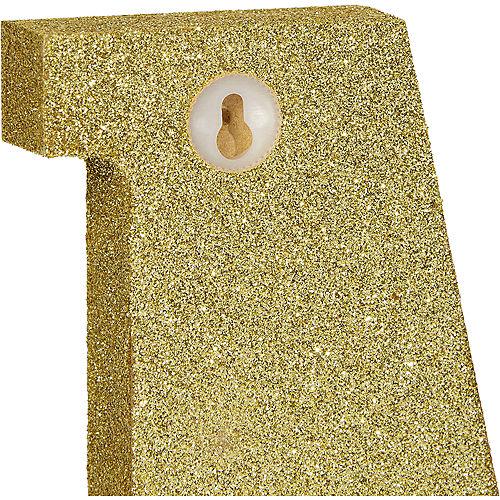 Glitter Gold Letter A Sign Image #2