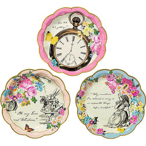 Alice in Wonderland Dessert Plates 12ct Image #1