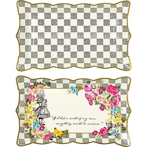 Alice in Wonderland Rectangular Platters 4ct Image #1