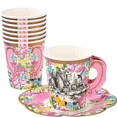 Alice in Wonderland Tea Cup & Saucer Sets for 12 Image #1