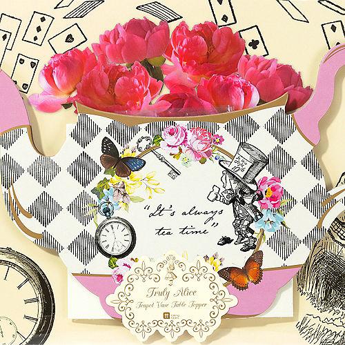 Alice in Wonderland Teapot Vase Centerpiece Image #3