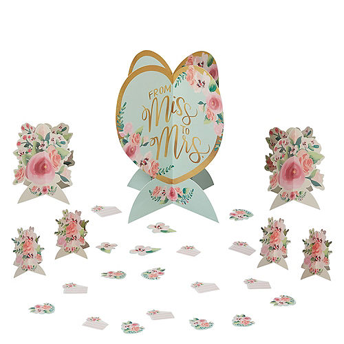 Mint to Be Floral Table Decorating Kit 25pc Image #1