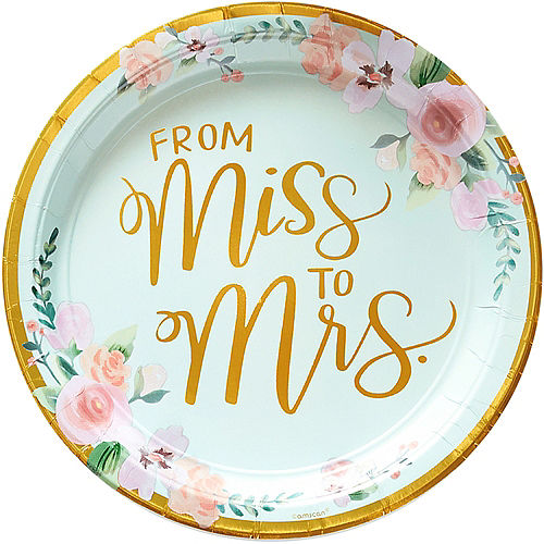 Metallic Mint to Be Floral Lunch Plates 8ct Image #1