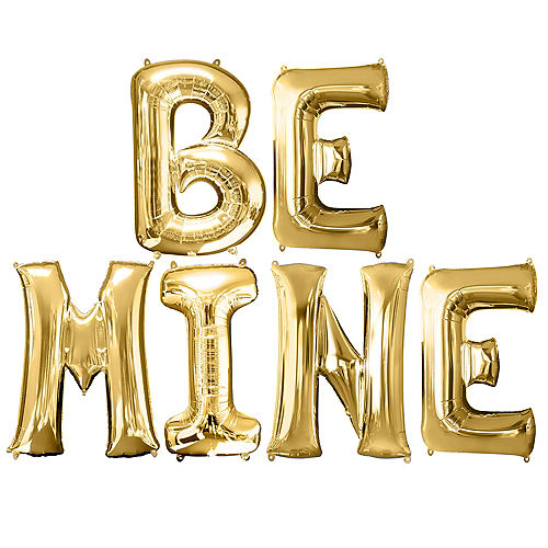 Giant Gold Be Mine Letter Balloon Kit Image #1
