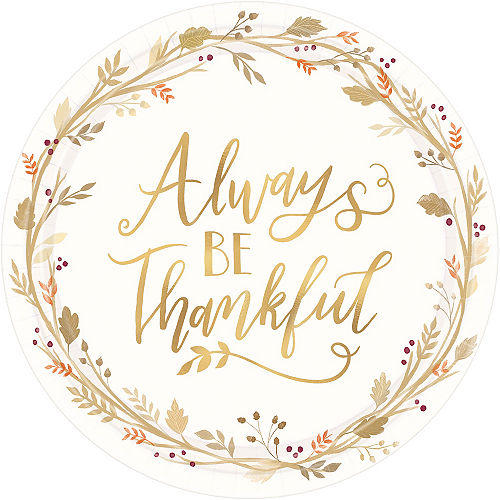 Always Be Thankful Dinner Plates 18ct Image #1