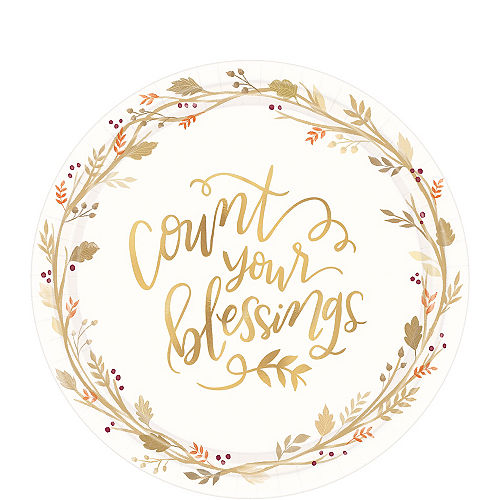 Count Your Blessings Dessert Plates 18ct Image #1