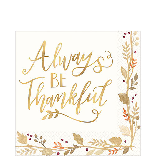 Always Be Thankful Lunch Napkins 36ct Image #1