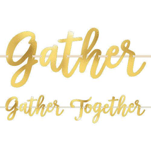 Metallic Gold Gather Together Banner Image #1