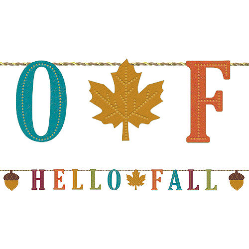 Hello Fall Letter Banner Image #1